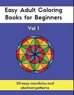 Easy Adult Coloring Books for Beginners Vol. 1