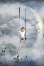 A Child Swinging from a Crescent Moon Dream Journal