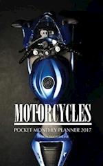 Motorcycles Pocket Monthly Planner 2017
