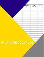Daily Cash Count Log