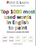 Top 1000 Most Used Words in English to Paint (Volume 2