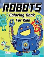 Robot Coloring Book for Kids Vol.2