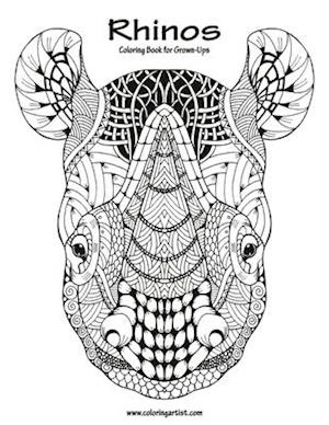 Rhinos Coloring Book for Grown-Ups 1