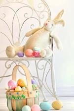 A Stuffed Bunny Rabbit and an Easter Basket Spring Journal
