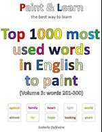 Top 1000 Most Used Words in English to Paint (Volume 3