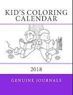 Kid's Coloring Calendar