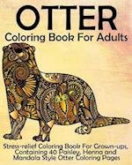 Otter Coloring Book for Adults