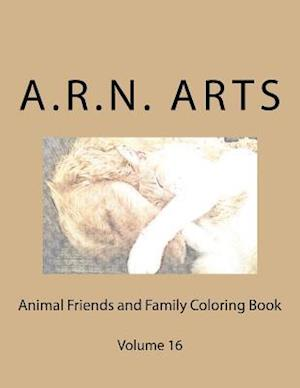 Bog, paperback Animal Friends and Family Coloring Book af A. R. N. Arts