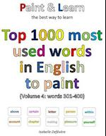 Top 1000 Most Used Words in English to Paint (Volume 4