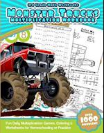 3rd Grade Math Workbooks Monster Trucks Multiplication Workbook af Math Workbooks