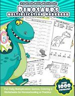 3rd Grade Math Workbooks Dinosaurs Multiplication Workbook af Math Workbooks