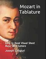 Mozart in Tablature af Joseph Caligiuri