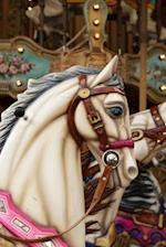 Vintage White Carousel Horse Journal