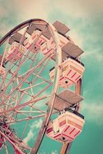 Vintage Pink Ferris Wheel Amusement Park Journal