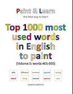Top 1000 Most Used Words in English to Paint (Volume 5