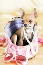 Adorable Chihuahua with Pink Camo and Pearls Journal