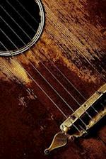 Well-Played Vintage Guitar Close-Up Musical Instrument Journal