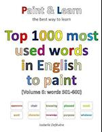 Top 1000 Most Used Words in English to Paint (Volume 6