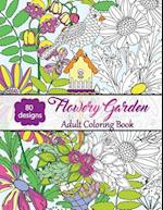 Flowery Garden-Adult Coloring Book