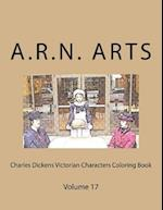 Charles Dickens Victorian Characters Coloring Book