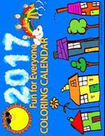 2017 Coloring Calendar for Kids & Adults