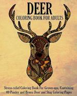 Deer Coloring Book for Adults