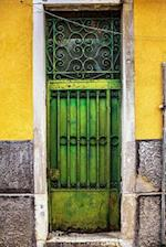 Ornate Green Vintage Venetian Metal Door Journal