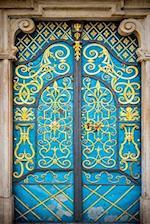 Lavishly Decorated Turquoise and Yellow Door Journal