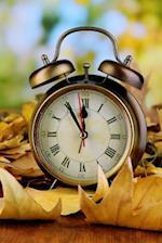 Vintage Alarm Clock with Roman Numerals Journal
