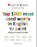 Top 1000 Most Used Words in English to Paint (Volume 8
