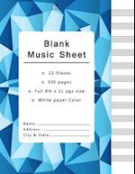 Blank Music Sheets