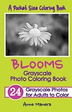 Blooms Grayscale Pocket Size Photo Coloring Book