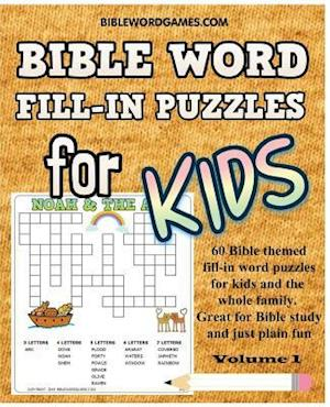 Bible Word Fill-In Puzzles for Kids Vol.1