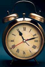 Retro Brass Alarm Clock Journal