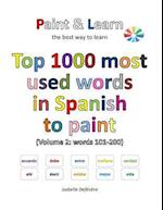 Top 1000 Most Used Words in Spanish to Paint (Volume 2