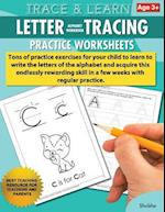 Trace & Learn Letters Alphabet Tracing Workbook Practice Worksheets
