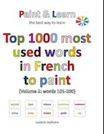 Top 1000 Most Used Words in French to Paint (Volume 2
