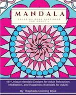 Mandala Coloring Book Happiness for Adult