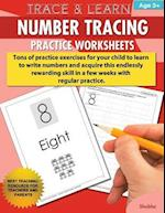 Trace & Learn Numbers Tracing Workbook Practice Worksheets