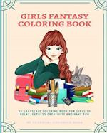 Girls Fantasy Coloring Book