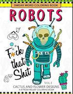 Swear Word Coloring Books Robot Vol.1
