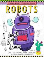 Swear Word Coloring Books Robot Vol.2