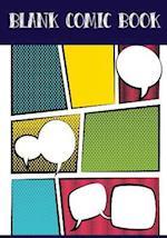 Blank Comic Book Panelbook - 7 Panel,5 Speech Bubble 7x10,130 Pages