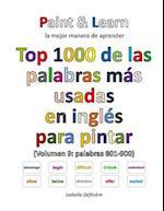 Top 1000 de Las Palabras Mas Usadas En Ingles (Volumen 9 Palabras 801-900)