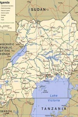 Bog, paperback A Map of the African Nation Uganda af Unique Journal