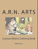 Curious Kittens Coloring Book