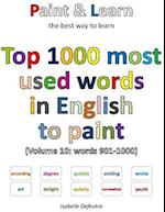 Top 1000 Most Used Words in English to Paint (Volume 10