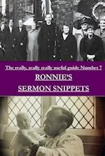 Ronnie's Sermon Snippets