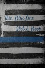 Thin Blue Line Sketch Book af Dark Road Designs