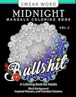 Swear Word Midnight Mandala Coloring Book Vol.2